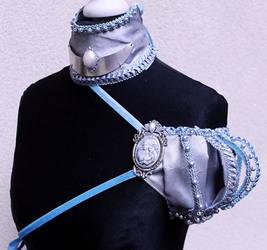 Winter princess set shoulder piece and collar by Pinkabsinthe