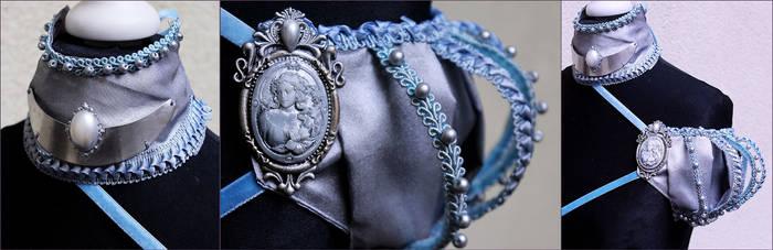 Winter princess set shoulder piece and collar II by Pinkabsinthe