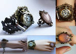 Locket watch cuff