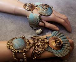 Summer collection 2016 boho shell bracelets set I by Pinkabsinthe