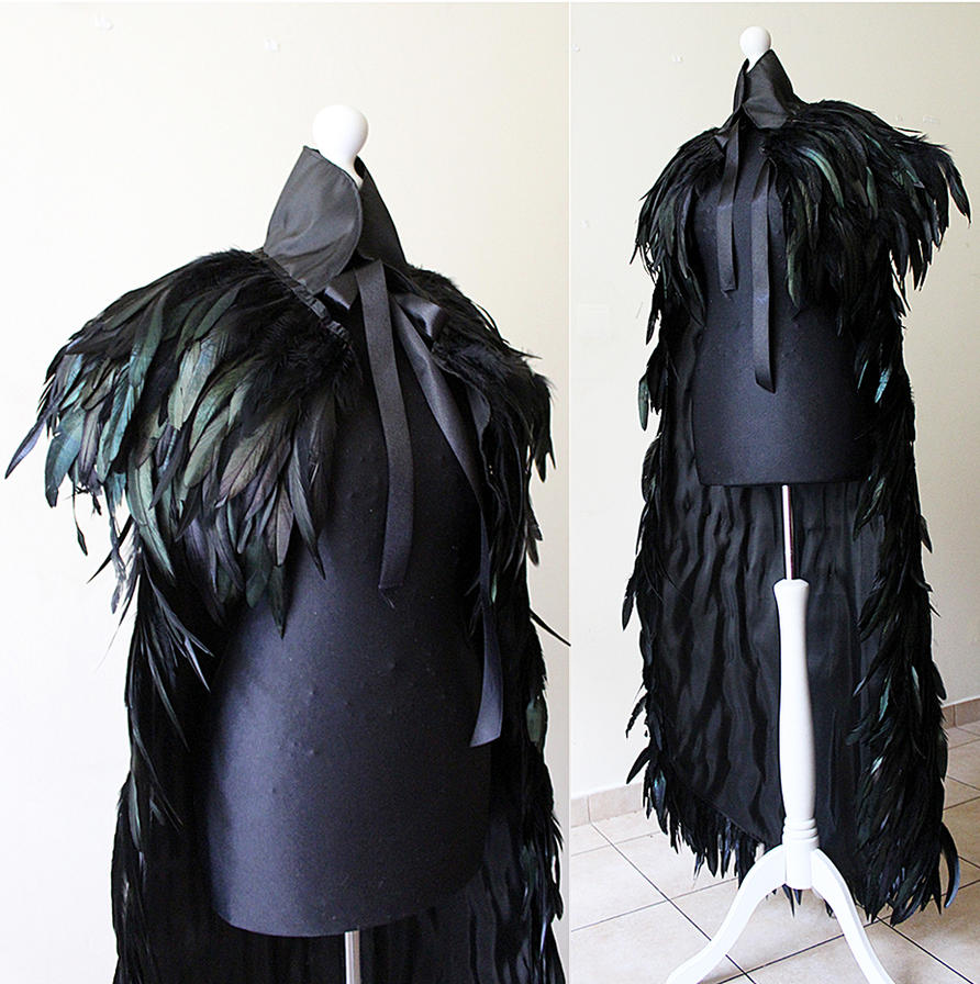 Feather cape with pelerine I by Pinkabsinthe