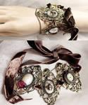 Massive Steampunk rococo choker or bracelet I