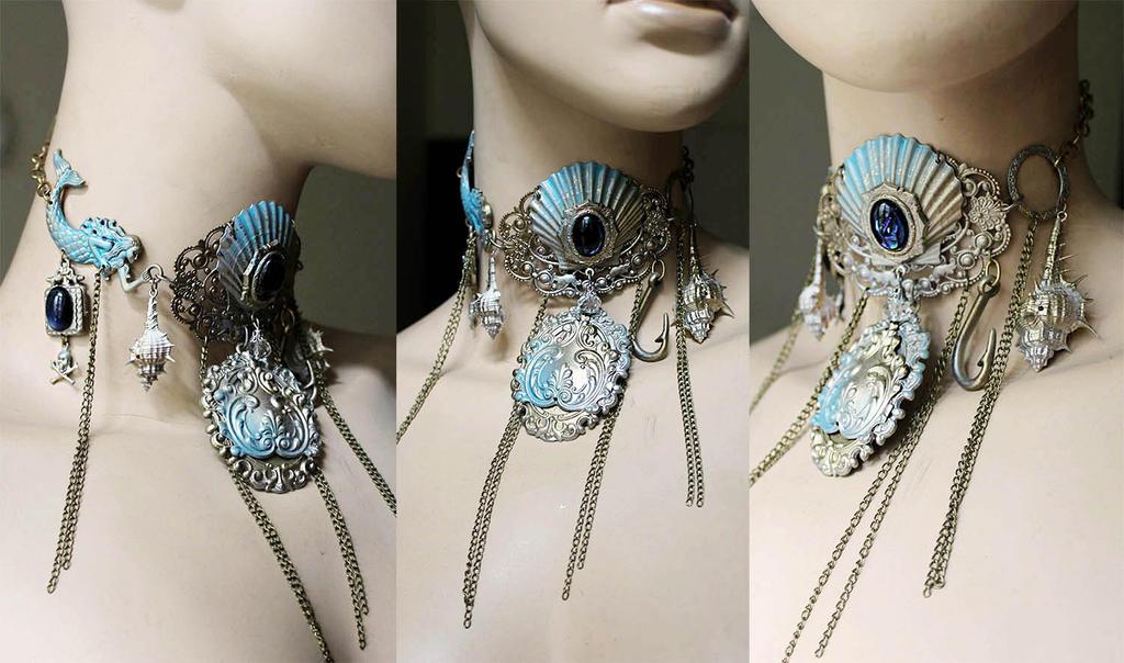 Arctic mermaid necklace by Pinkabsinthe