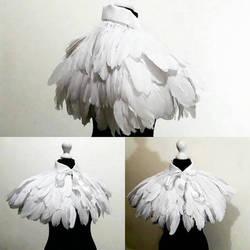 Feather pelerine White by Pinkabsinthe