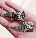 Long Steampunk earrings