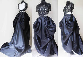 Rococo steampunk dress II by Pinkabsinthe