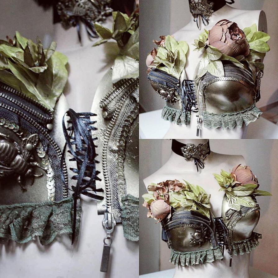 Flourish punk bralette by Pinkabsinthe