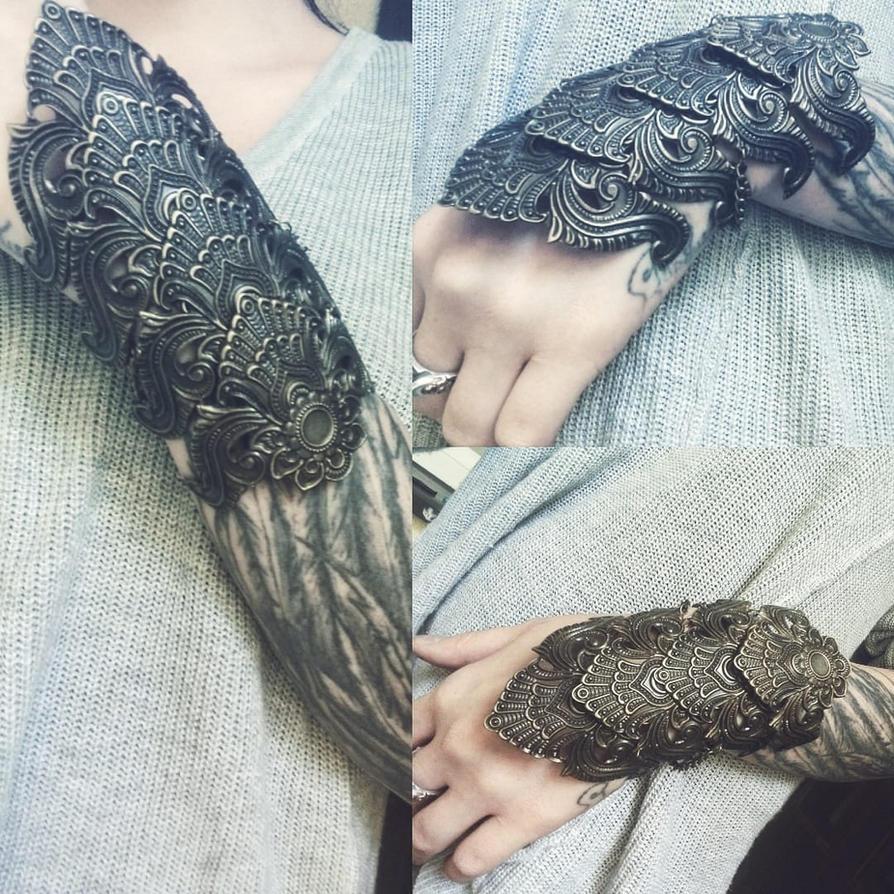 Tribal bracelet boho cuff by Pinkabsinthe