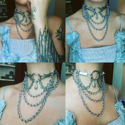 Boho chained jabot by Pinkabsinthe