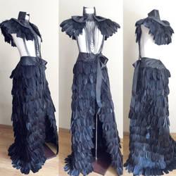 Floor length wrapped skirt