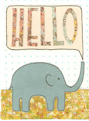 The Elephant's Hello by stillworkingonit