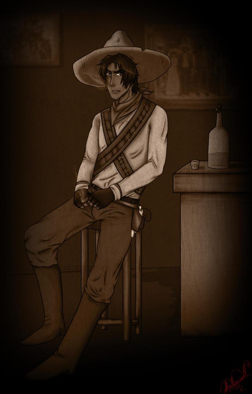Si mi sangre piden, mi sangre les doy... - Sepia by Horselandiceage