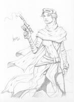 Rey Sketch by RV1994