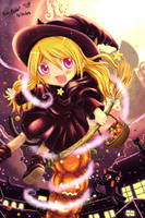 A Witch on the Pumpkins