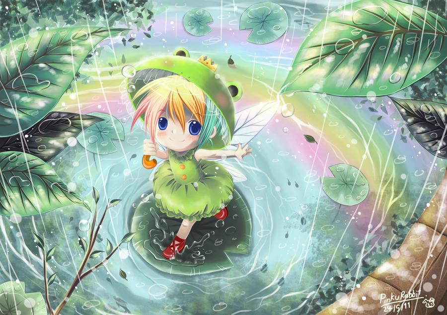 Pouring Rain by ~PinkuRabbit