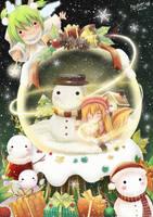 Christmas Snowglobe by PinkuRabbit
