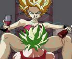 Kale x Caulifla  controlando al ssj demonio