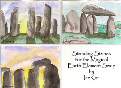 Misc. Standing Stones ATCs by The-IceKat
