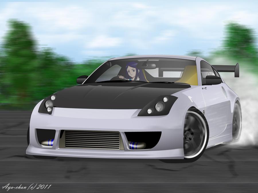 Natsuki Behind The Wheel by NotoAyako