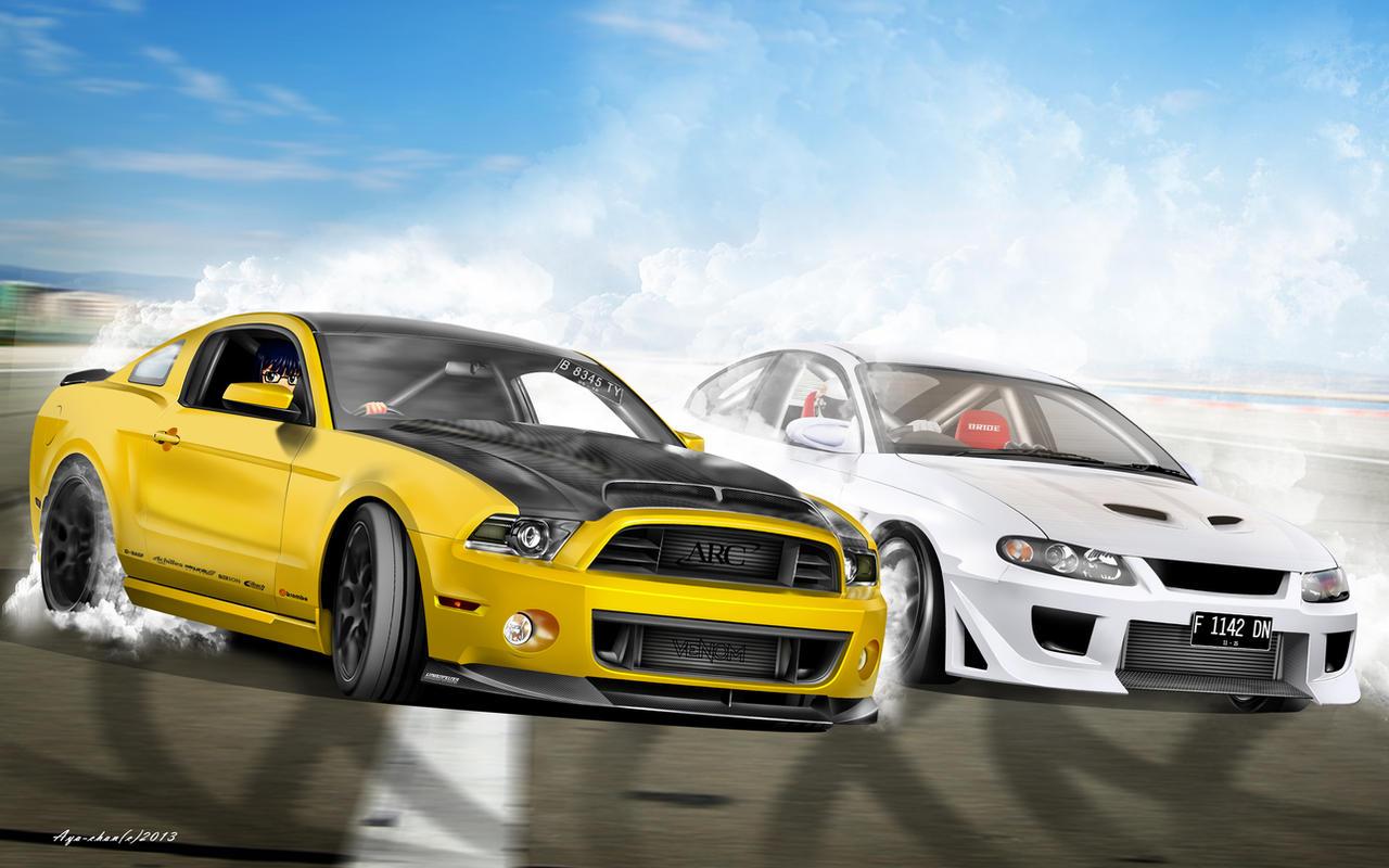 Muscle Cars Drift Battle By Notoayako On Deviantart