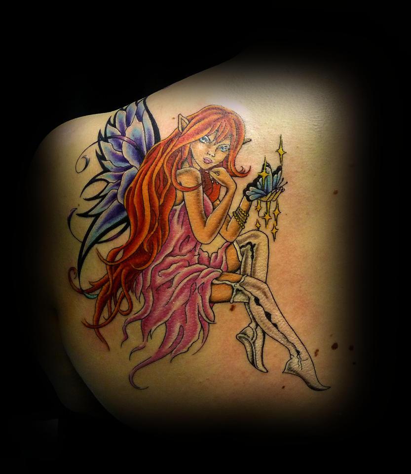 Fairy by taigeri on deviantart for Skull fairy tattoos