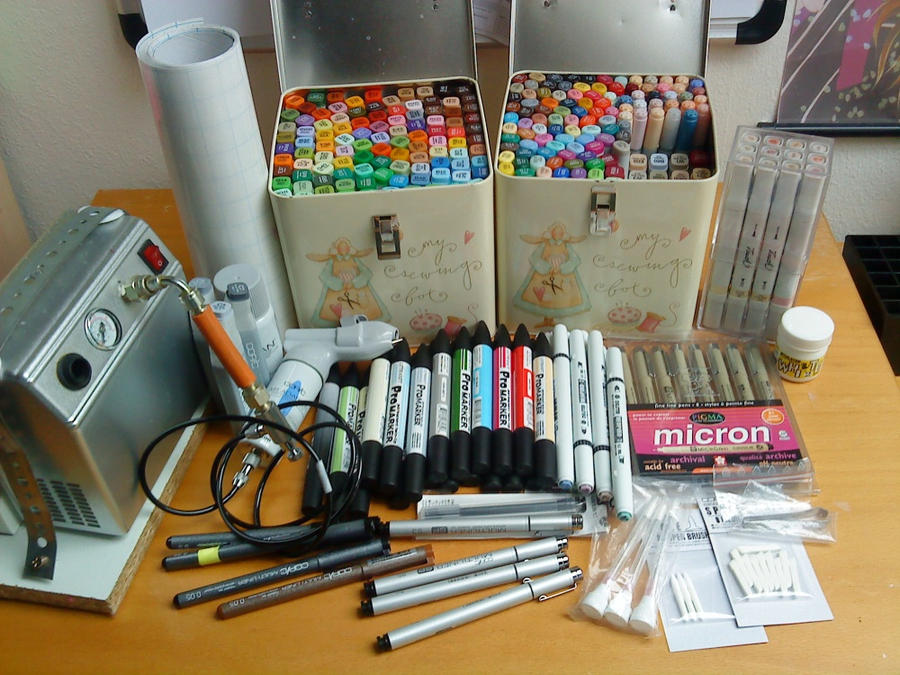 My Copic Collection by SugarTrip