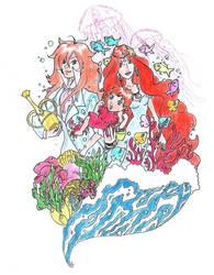 Ponyo Fujimoto And Granmamare by Karamellodrama