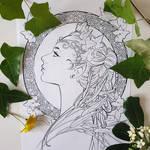 fairy princess coloring page