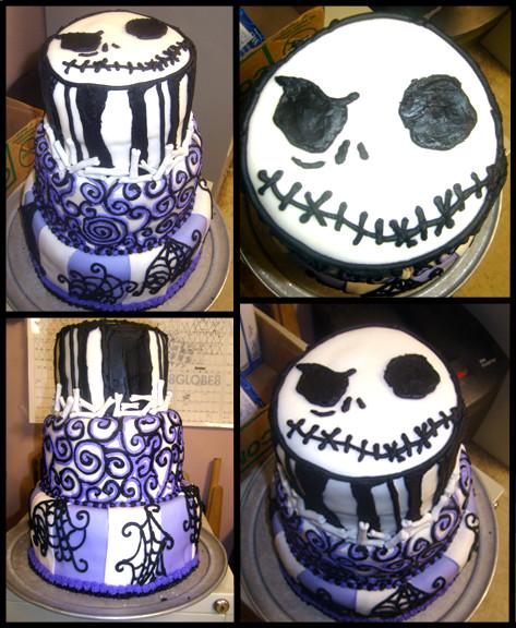 Jack Skellington Cake by Er-ca