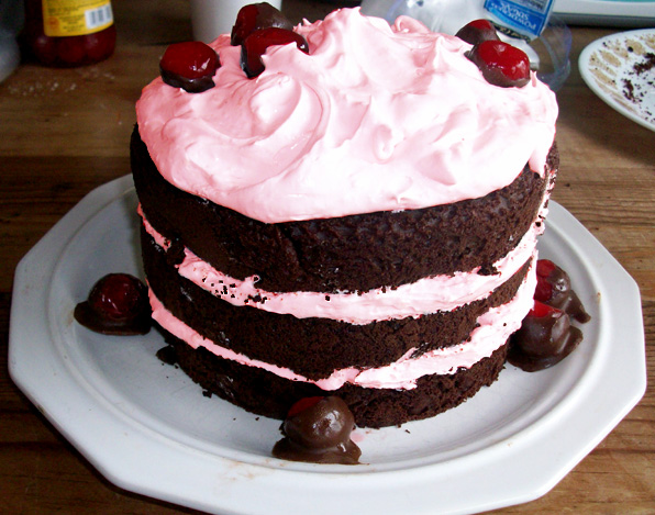 Luscious Cherry Chocolate Cake by Er-ca on DeviantArt