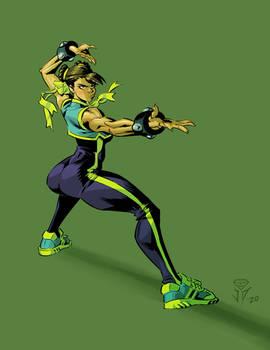 Chun li in green