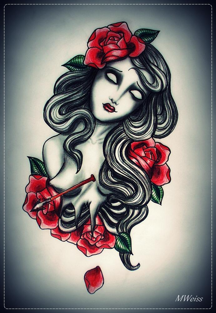 DYING tattoo flash by MWeiss-Art