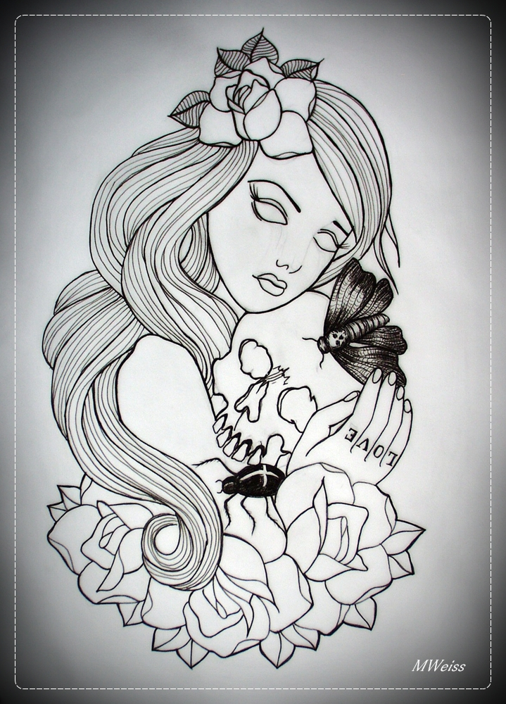 Love Tattoo Outlines: Traditional Tattoo Flash Outlines