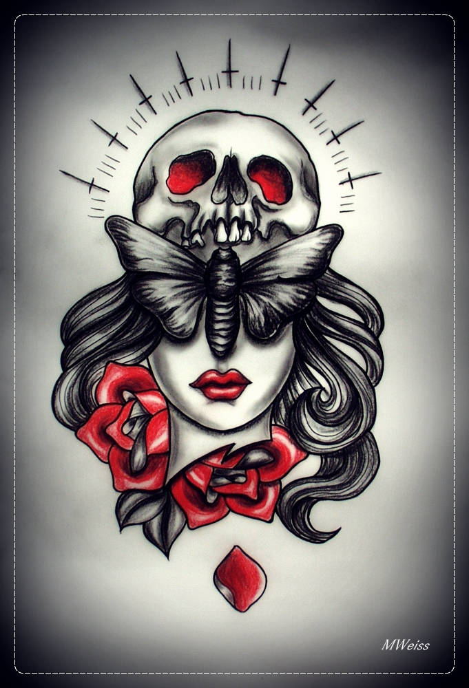 BLIND tattoo design by MWeiss-Art