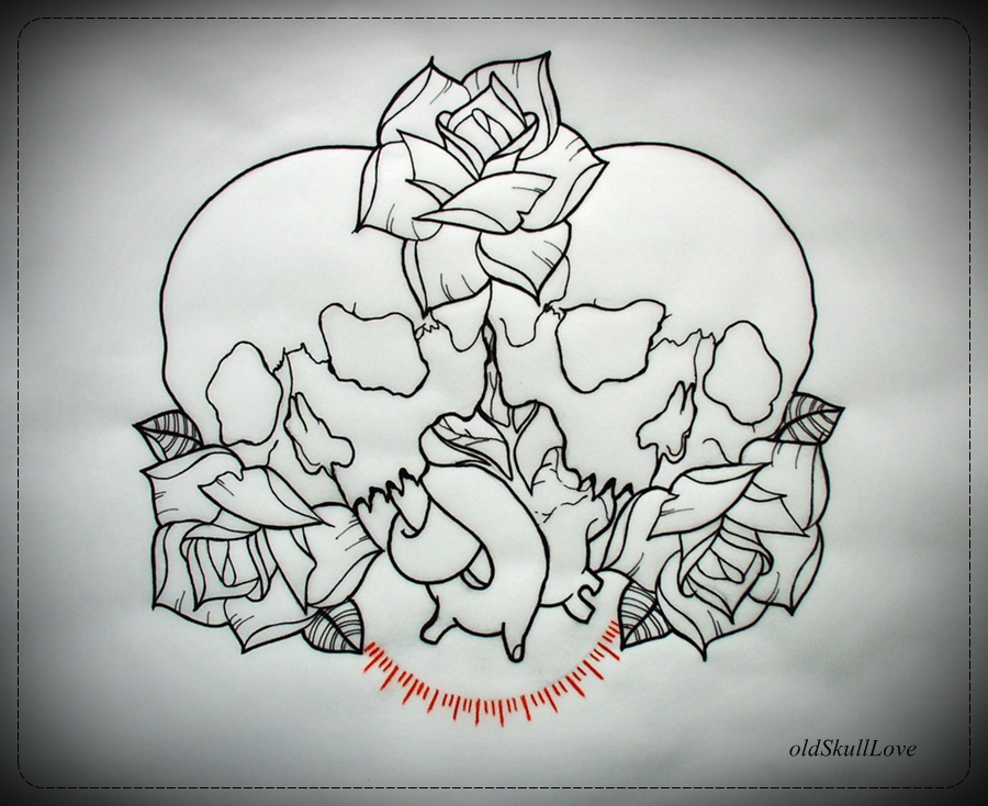 Love Tattoo Outlines: Skull And Roses Tattoo Designs, How To Find A Good Tattoo