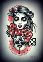 DYING TIME tattoo design by MWeiss-Art