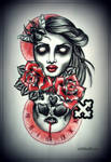 DYING TIME tattoo design