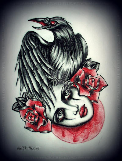 CROW tattoo design by MWeiss-Art