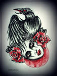 CROW tattoo design by MWeiss-Art