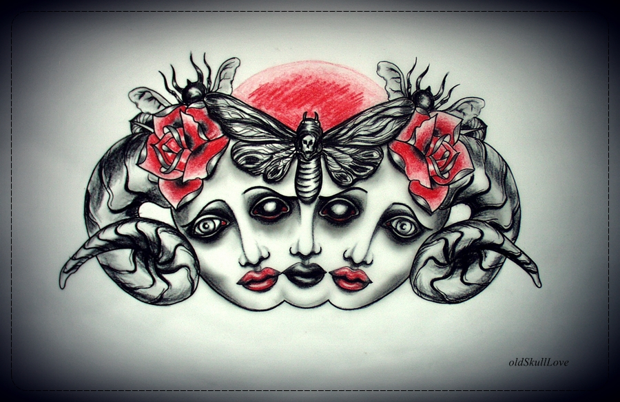 POSSESSED tattoo design by oldSkullLovebyMW