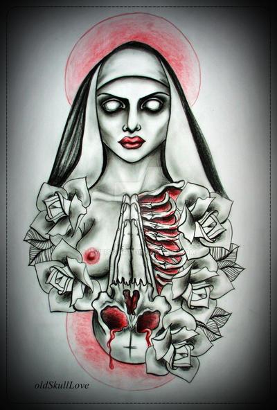 NUN tattoo design by MWeiss-Art