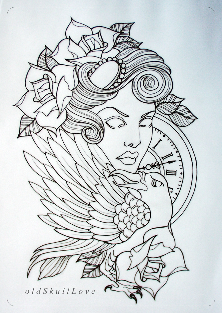 Koi Fish Outline Tattoo Designs