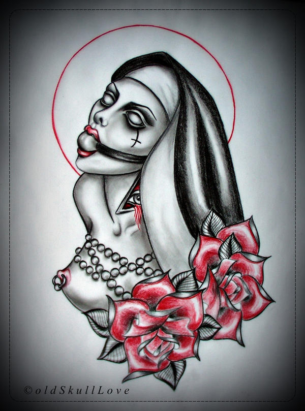 NUN tattoo design by oldSkullLovebyMW