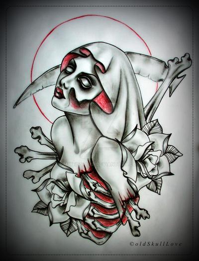 muerte tattoo design by mweiss art on deviantart. Black Bedroom Furniture Sets. Home Design Ideas