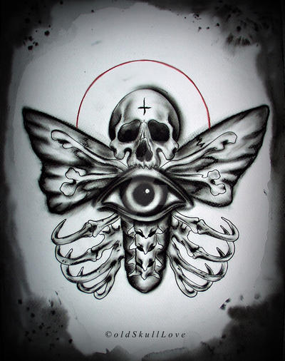 death moth tattoo design by mweiss art on deviantart. Black Bedroom Furniture Sets. Home Design Ideas