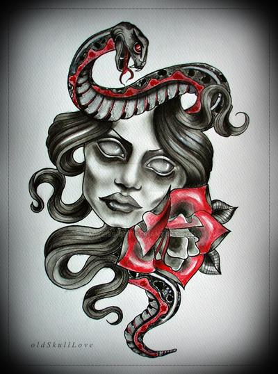 SNAKE tattoo design by MWeiss-Art