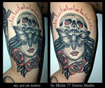my art on tattoo by MALIN by MWeiss-Art