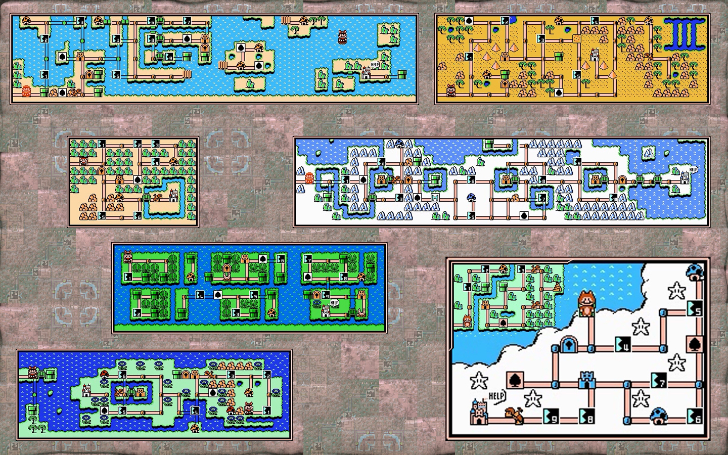 Super Mario Brothers 3 Maps By Jobexi On Deviantart