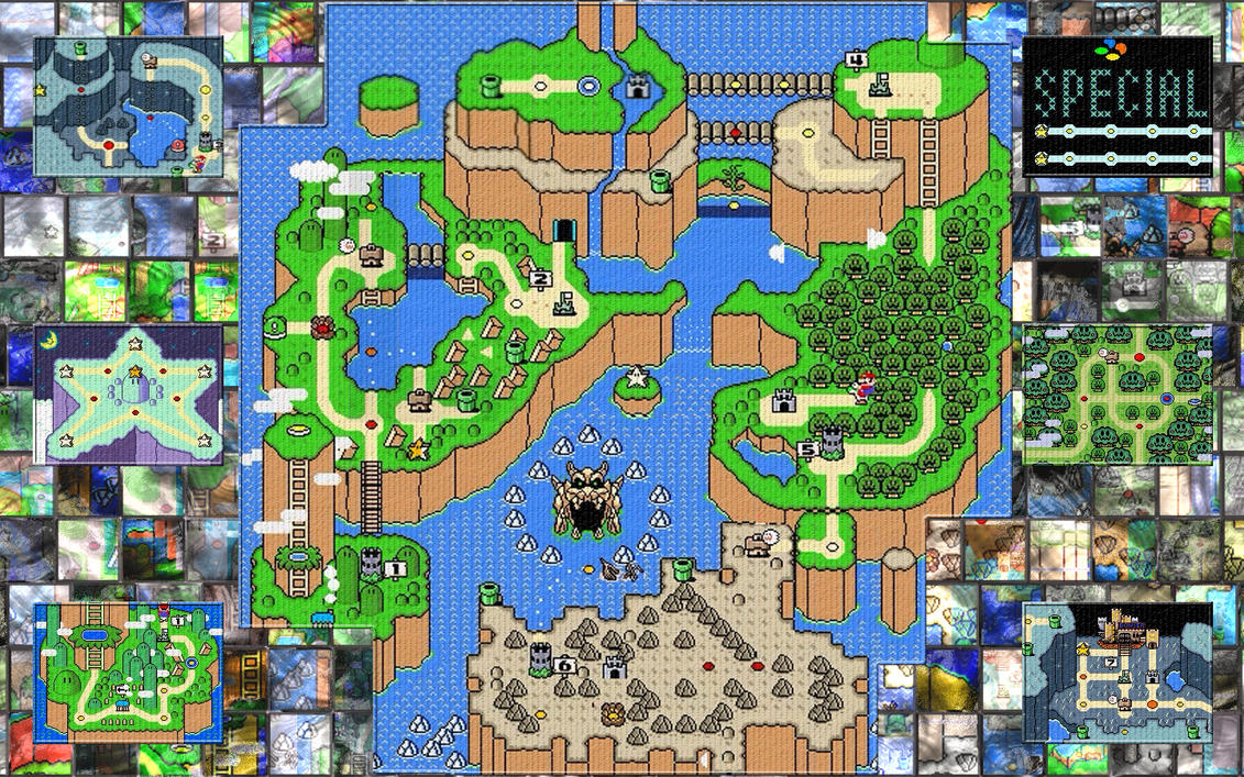 Super mario world maps by jobexi on deviantart super mario world maps by jobexi gumiabroncs Choice Image