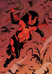 Luciferina pinup by Coaxdreams